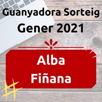 Guanyador Sorteig Gener 2021